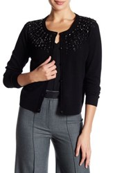 Milly Luxe Jeweled Cardigan Black