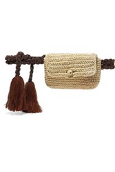 Nannacay Tasseled Toquilla Straw Belt Bag Beige