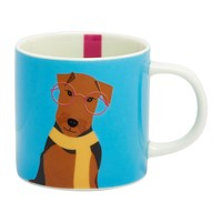 Joules Cuppa Mug Blue Airedale