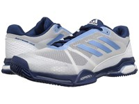 Adidas Barricade Club Footwear White Tech Blue Metallic Mystery Blue Men's Tennis Shoes Gray
