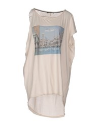 Paolo Pecora Donna Topwear T Shirts Women Beige