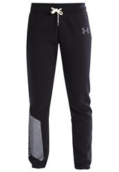 Under Armour Tracksuit Bottoms Black White