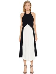 Christopher Esber Violetta Memphis Two Tone Crepe Dress