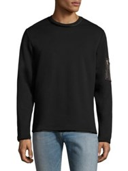 Ovadia And Sons Long Sleeve Cotton Sweater Black