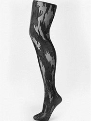 Wolford Camouflage Tights Black Silver Black Silver