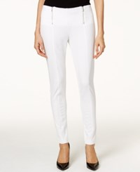 Alfani Petite Skinny Side Zip Pants Only At Macy's