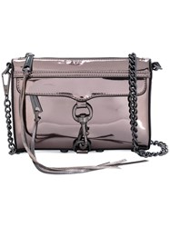 Rebecca Minkoff Mini M.A.C. Crossbody Bag Women Leather One Size Grey