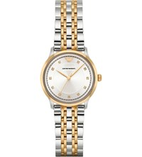 Emporio Armani Ar1963 Gold Plated Stainless Steel Watch Silver