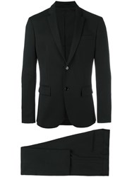 Paolo Pecora Tailored Formal Suit Black