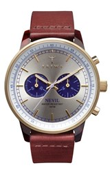 Men's Triwa 'Nevil' Chronograph Leather Strap Watch 38Mm