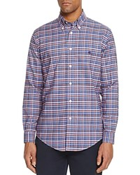 Brooks Brothers Plaid Classic Fit Button Down Shirt Navy Heather
