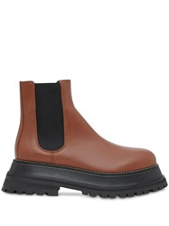 Burberry Leather Chelsea Boots Brown