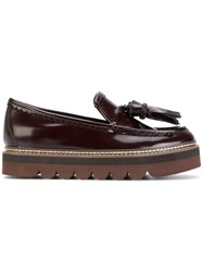See By Chloe Tassel Detail Loafers Women Leather Patent Leather Rubber 37 Red