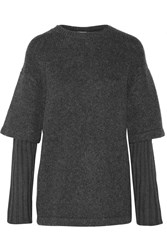 Opening Ceremony Layered Wool Blend Sweater Gray