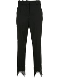 Christopher Esber Icon Beaded Cuff Trousers Black
