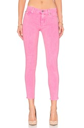 Hudson Jeans Nico Mid Rise Ankle Skinny Luminous Pink