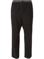 Erika Cavallini Semi Couture Cropped Drop Crotch Trousers Black