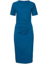 Winser London Miracle Short Sleeve Dress Teal