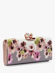 Ted Baker Adelphe Neapolitan Print Leather Matinee Purse Multi Ivory