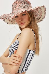 Topshop Floppy Raw Edge Hat Multi