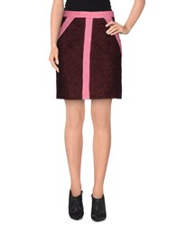 Veronique Branquinho Skirts Knee Length Skirts Women Maroon
