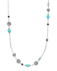 John Hardy Sterling Silver Dot Sautoir Necklace With Turquoise Swiss Blue Topaz And Black Sapphire 36 100 Exclusive Blue Silver