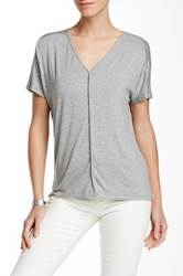 Fate V Neck Piped Tee Gray