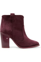 Laurence Dacade Nico Suede Ankle Boots Burgundy