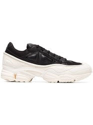 Raf Simons Adidas By White And Black Ozweego Leather Sneakers