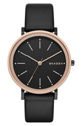 Skagen Women's 'Hald' Leather Strap Watch 34Mm