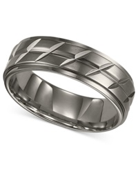 Triton Men's Titanium Ring Etched Wedding Band