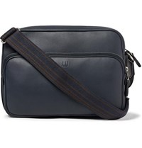 Dunhill Hampstead City Leather Messenger Bag Navy
