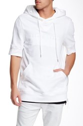 Helmut Lang Short Sleeve Hooded Sweater White