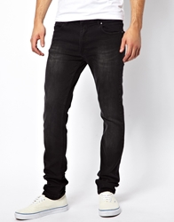 Religion Jeans Noize Skinny Fit In Washed Black