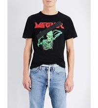 Off White C O Virgil Abloh Skeleton Print Cotton Jersey T Shirt Black