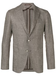 Tagliatore Double Breasted Blazer Neutrals