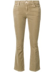 J Brand Cropped Trousers Cotton Polyester Polyurethane Modal Nude Neutrals