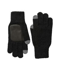 Original Penguin Textured Knit Tech Touch Gloves Black Extreme Cold Weather Gloves