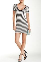 Edith A. Miller Scoop Neck Short Sleeve Mini Dress Multi