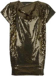 Vivienne Westwood Anglomania Metallic Loose Fit Blouse Black