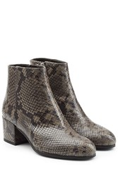 Steffen Schraut Embossed Leather Ankle Boots Multicolor