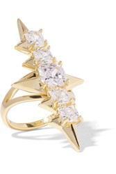 Noir Jewelry Mirach Gold Tone Crystal Ring 8