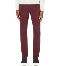 Reiss Maurice Slim Fit Tapered Jeans Bordeaux