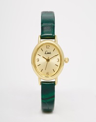 Limit Gold Face Olive Watch