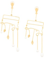 Aurelie Bidermann Sirocco Clip On Earrings Metallic