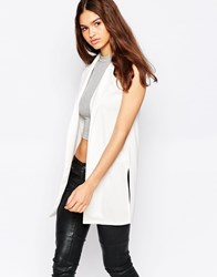 Brave Soul Sleeveless Jacket White