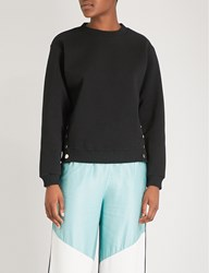 Maje Dream Tomorrow Cotton Blend Sweatshirt Black 210