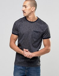 Ted Baker Space Dye Crew Neck T Shirt Charcoal Grey