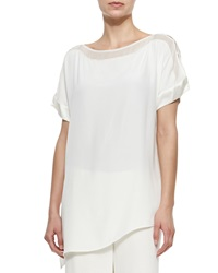Go Silk Silk Boat Neck Easy Tunic