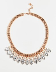 Ted Baker Emari Pear Drop Necklace Rose Gold Crystal